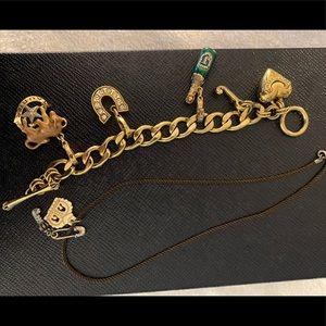 Juicy couture Charm bracelet + necklace